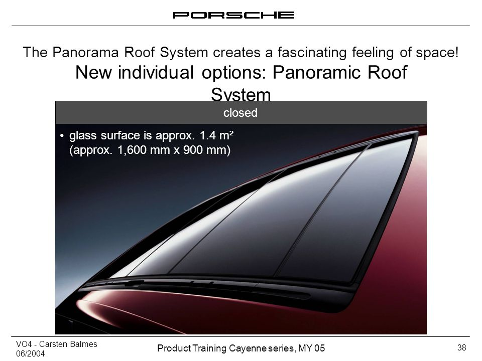 New individual options: Panoramic Roof System