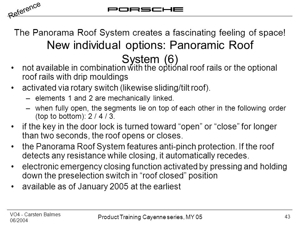 New individual options: Panoramic Roof System (6)