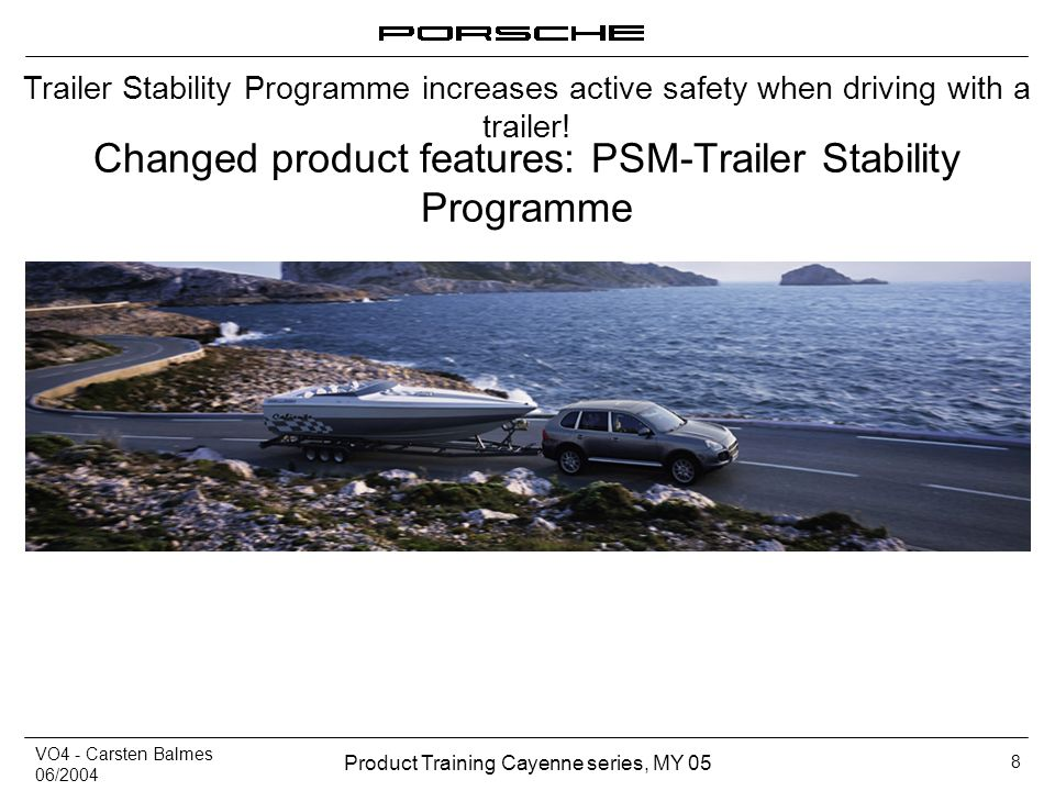 Changed product features: PSM-Trailer Stability Programme