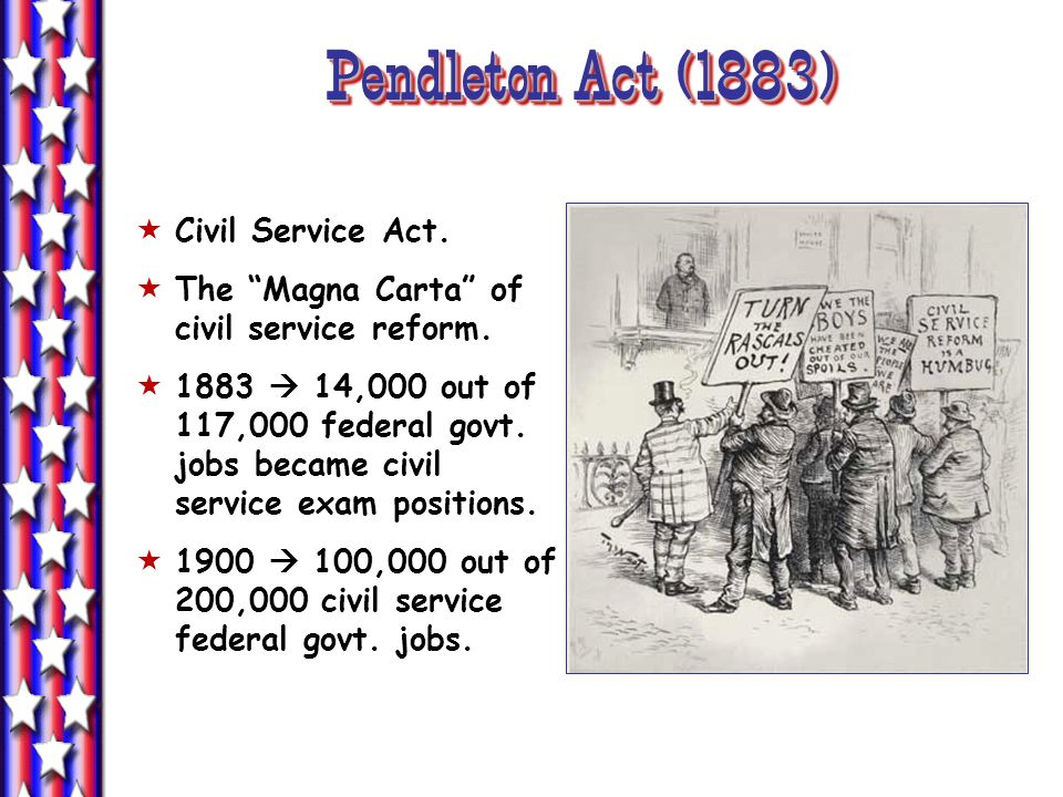 Pendleton Act (1883) Civil Service Act.