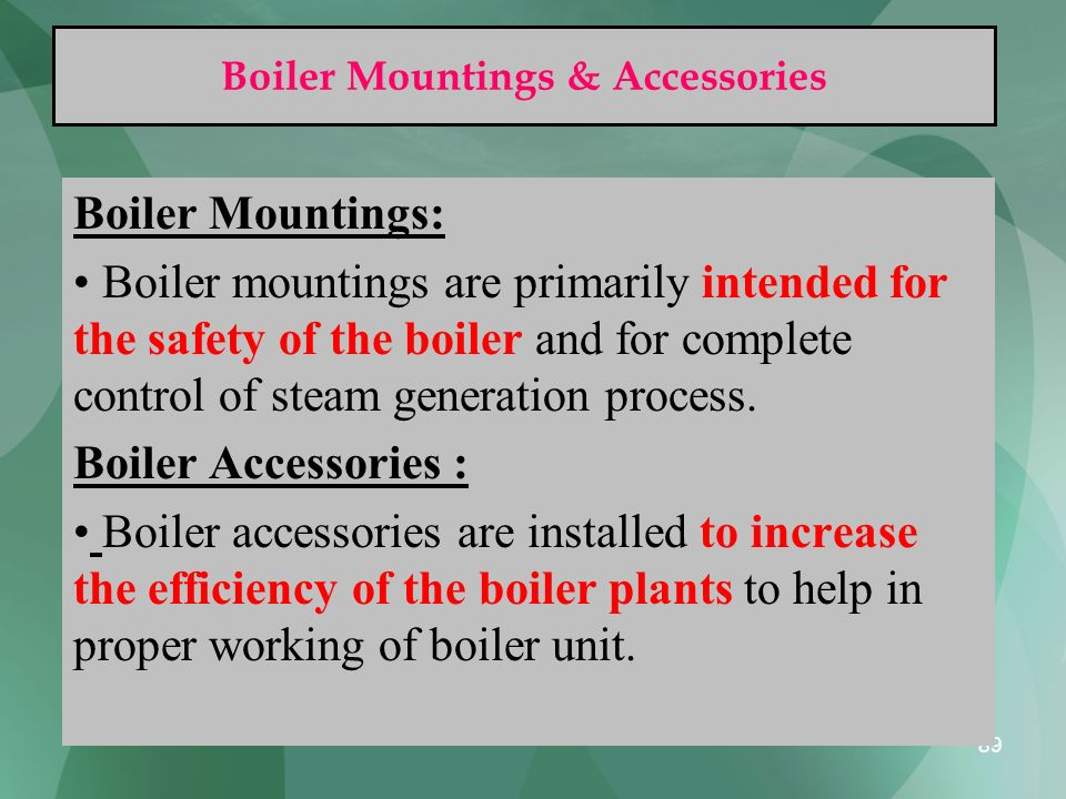 Boiler Mountings & Accessories