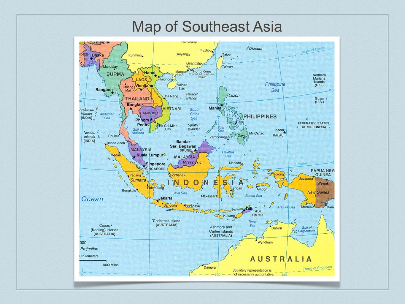 Map of Southeast Asia