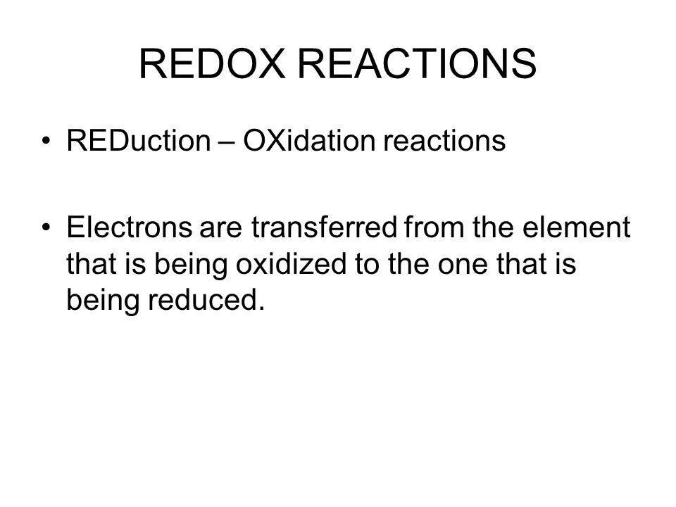 May 21 Chapter 17 Textbook Oxidation Reduction Ppt Download