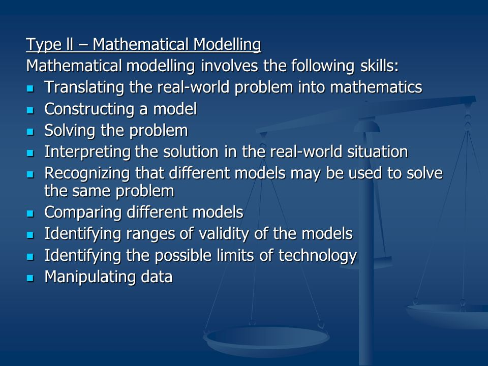 Type ll – Mathematical Modelling