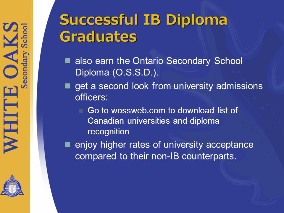 Successful IB Diploma Graduates
