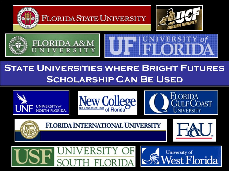 State Universities where Bright Futures Scholarship Can Be Used