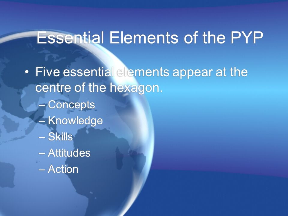 Essential Elements of the PYP