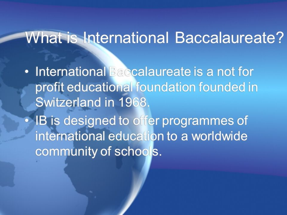 What is International Baccalaureate
