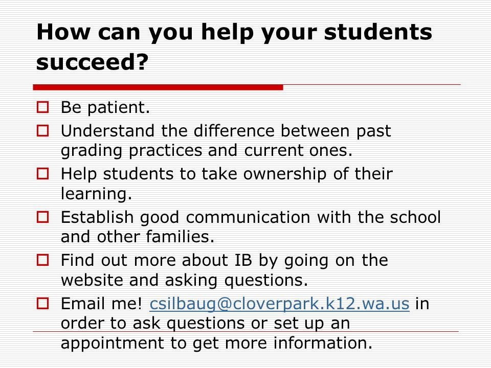 How can you help your students succeed