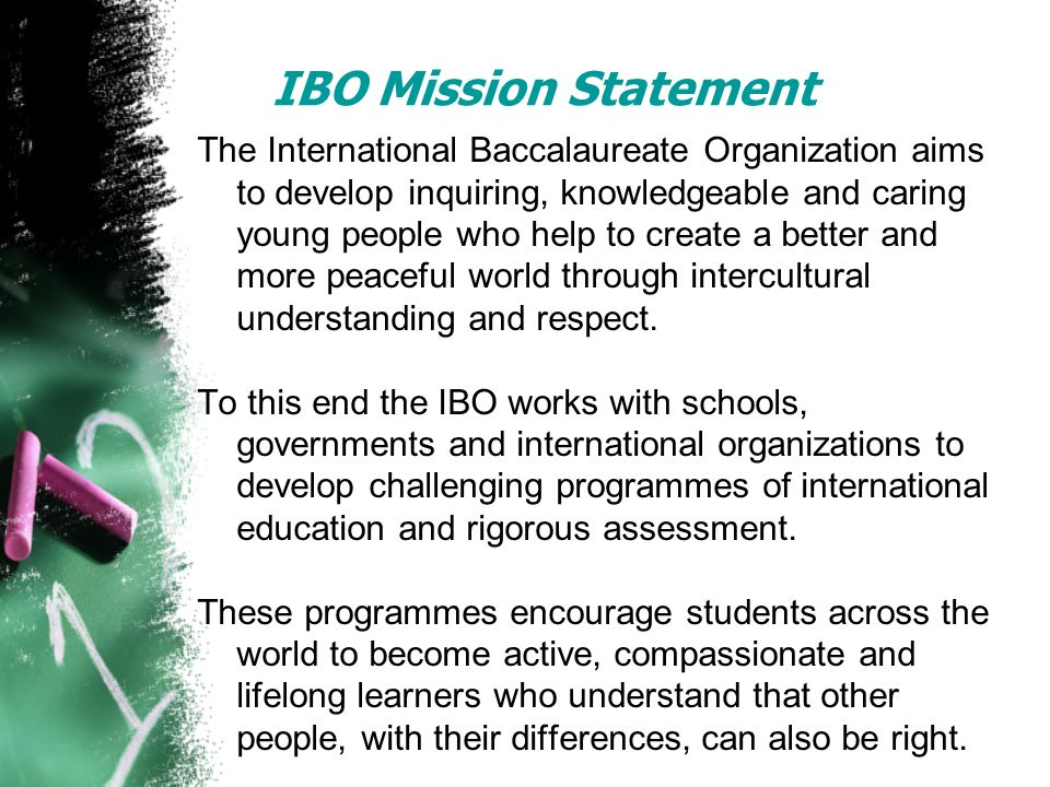 IBO Mission Statement
