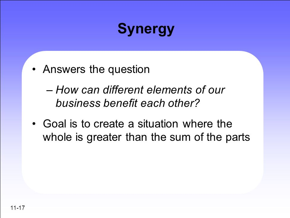 Synergy Answers the question