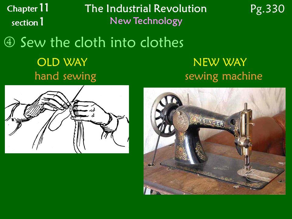 sewing machine industrial revolution