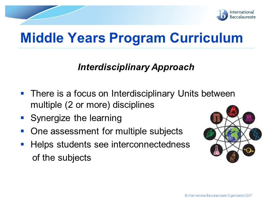 Middle Years Program Curriculum