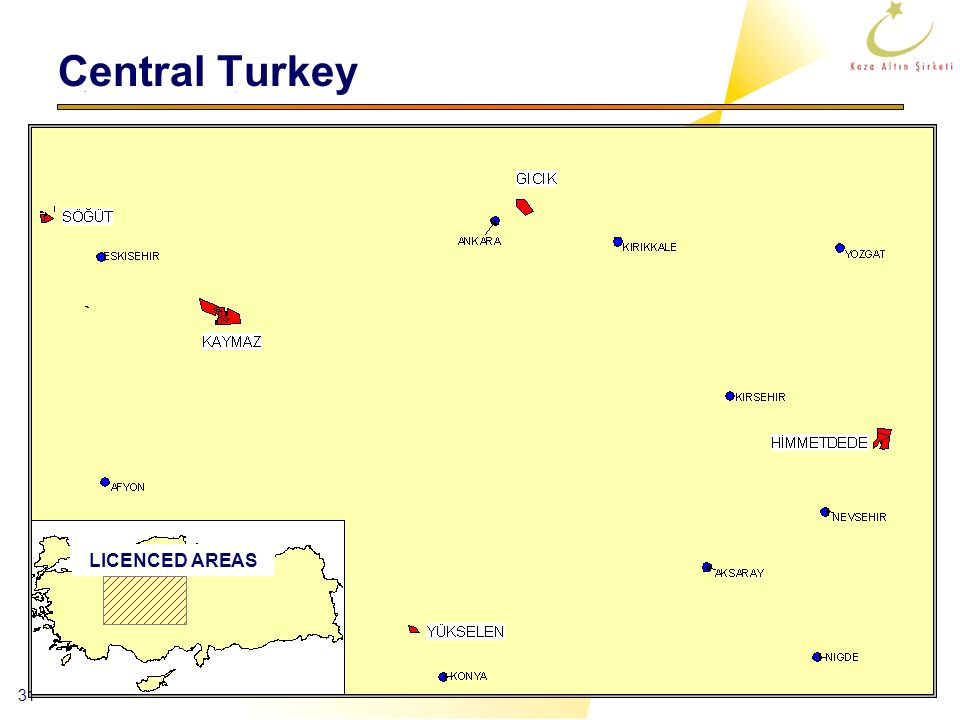 Central Turkey LICENCED AREAS
