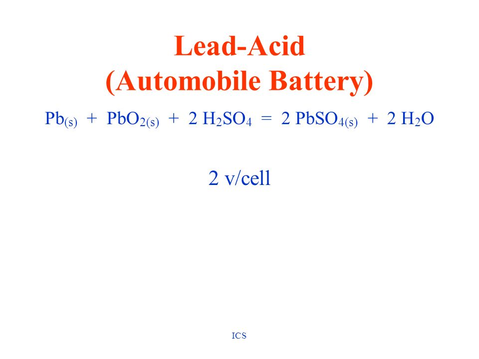 Lead-Acid (Automobile Battery)