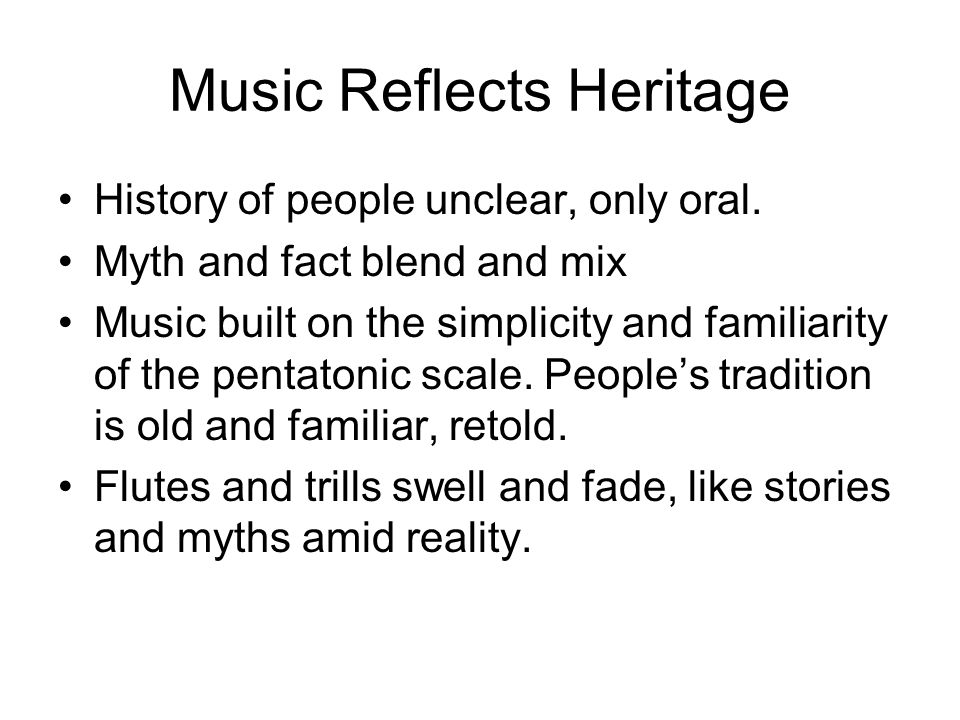Music Reflects Heritage