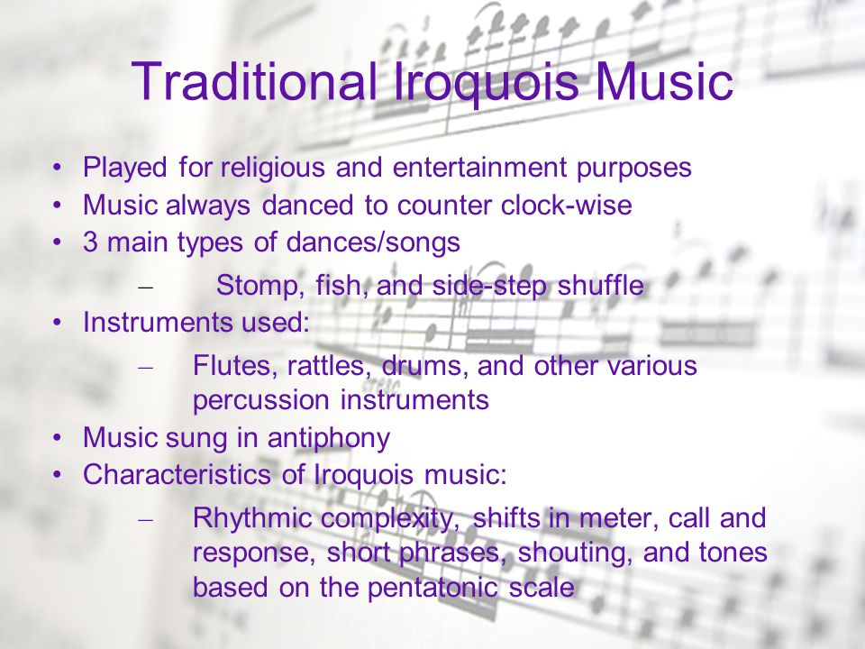 Traditional Iroquois Music