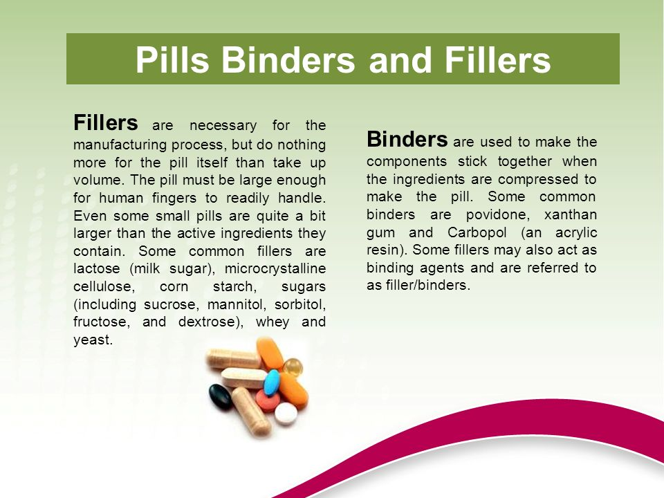 Pills Binders and Fillers