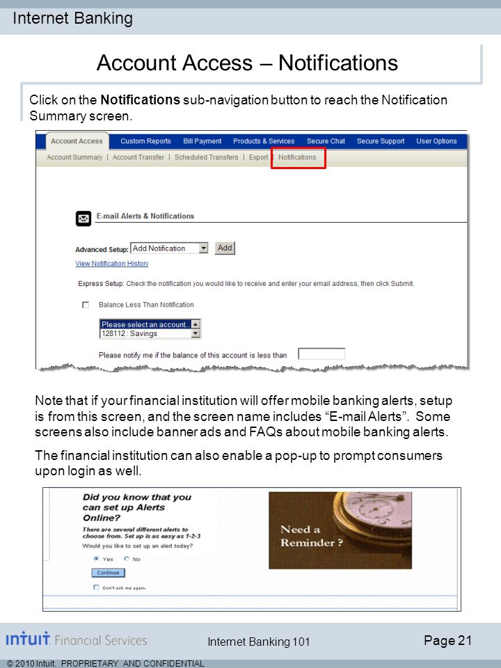 Account Access – Notifications