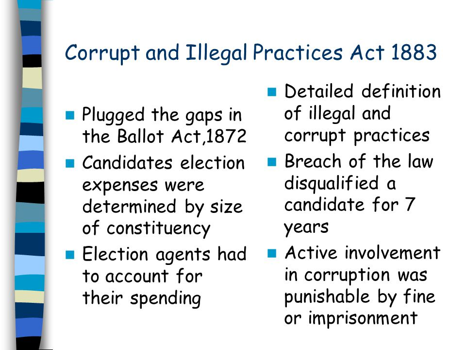 Corrupt and Illegal Practices Act 1883