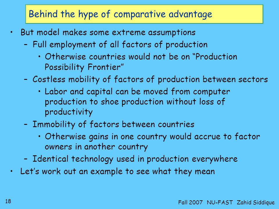 Behind the hype of comparative advantage