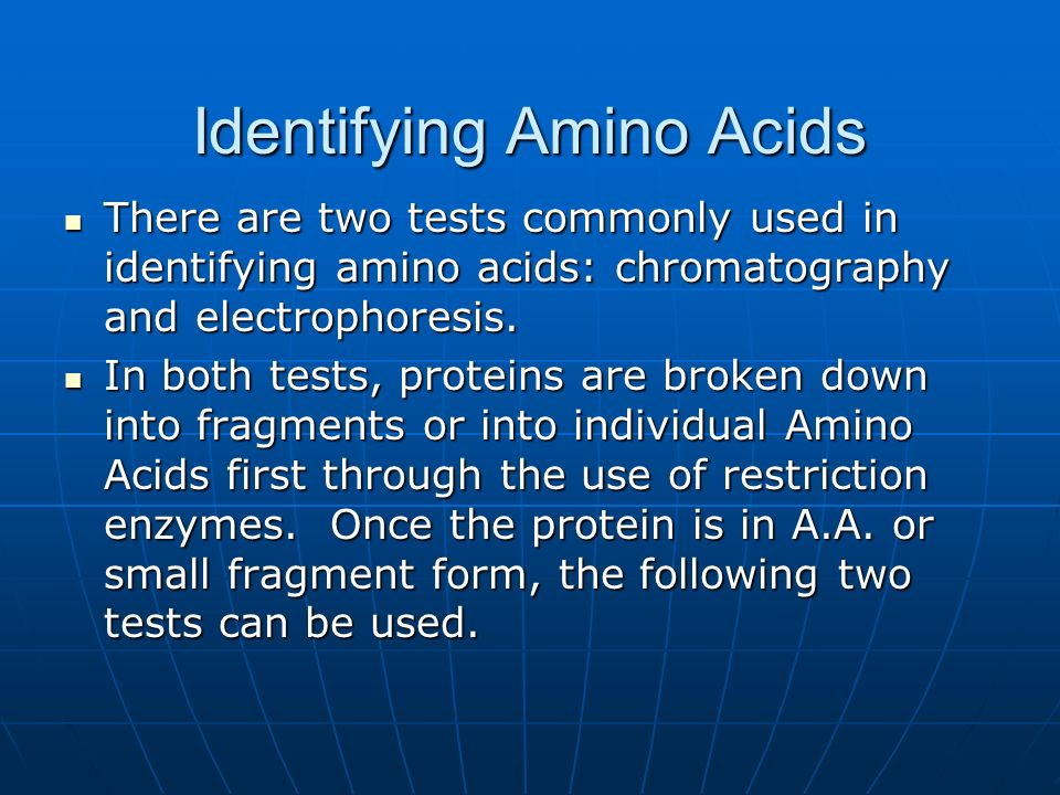 Identifying Amino Acids