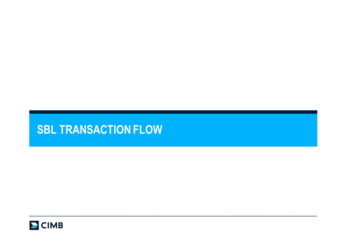 SBL TRANSACTION FLOW