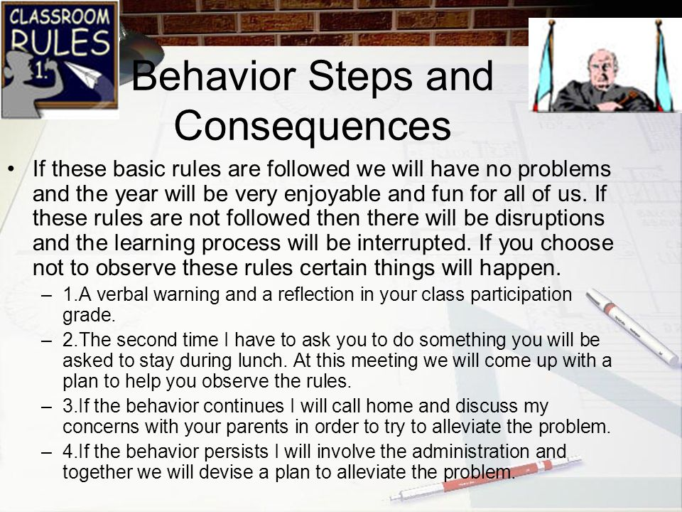 Behavior Steps and Consequences