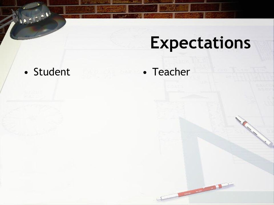 Expectations Student Teacher