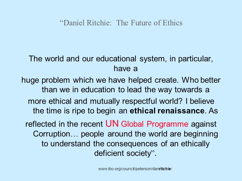 Daniel Ritchie: The Future of Ethics
