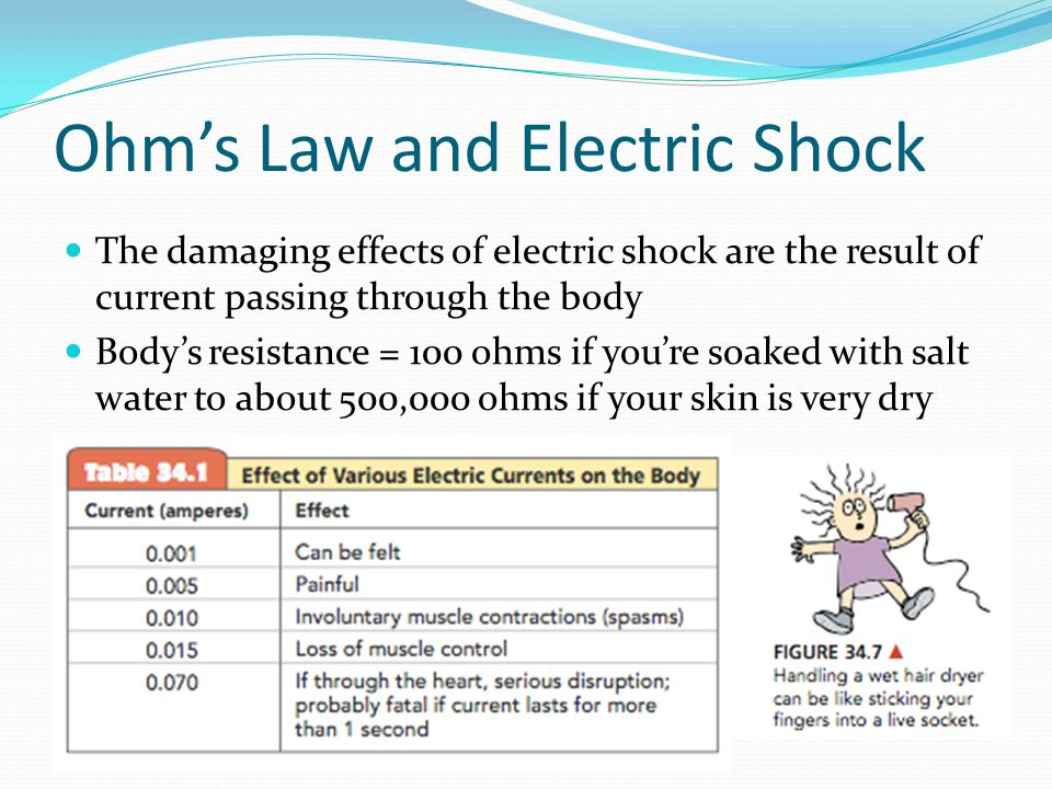 Ohm's Law and Electric Shock