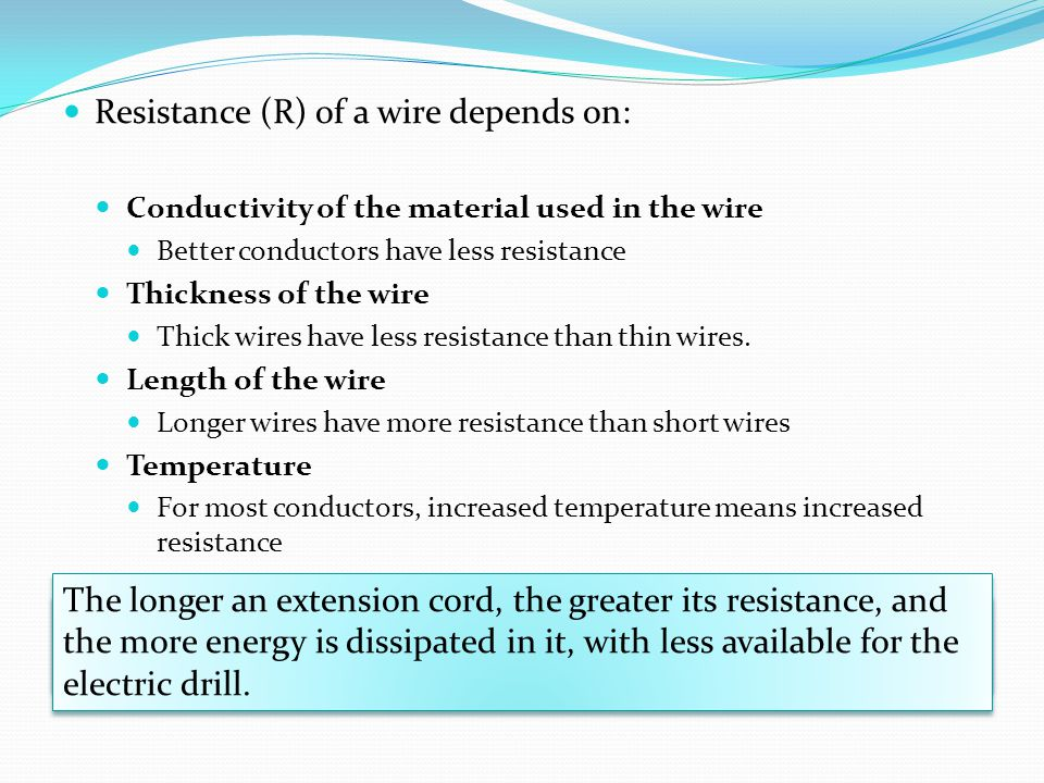 Resistance (R) of a wire depends on: