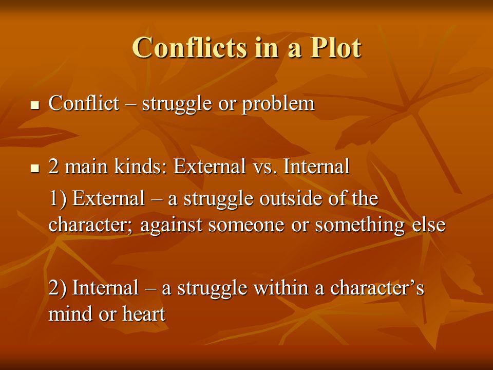 Conflicts in a Plot Conflict – struggle or problem