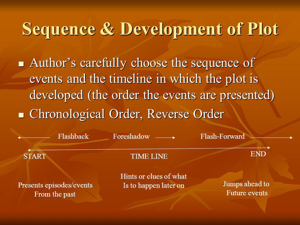 Sequence & Development of Plot