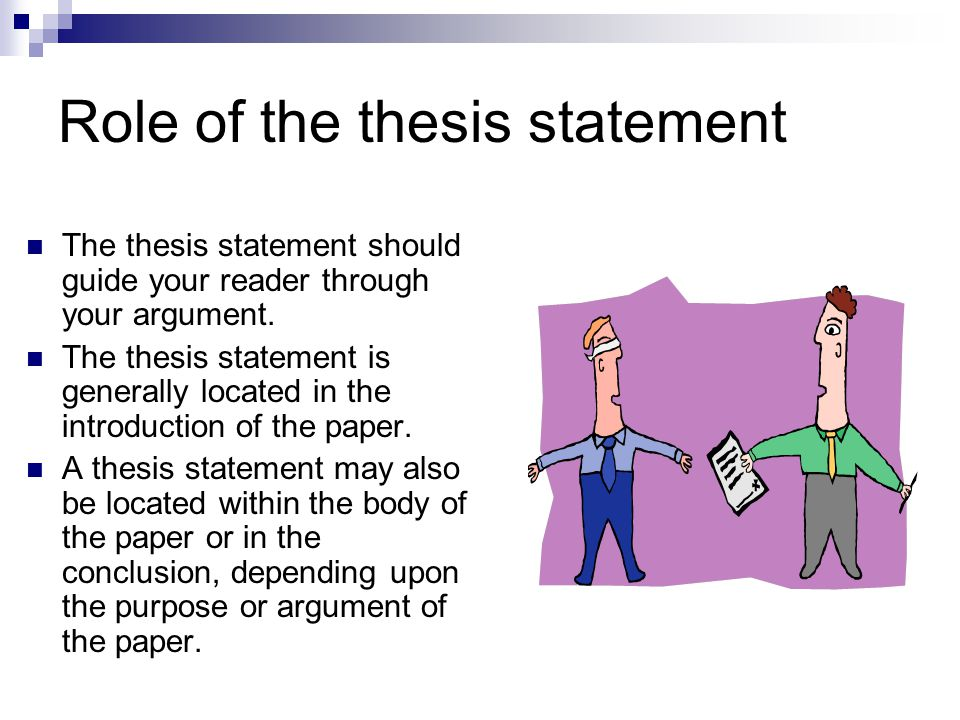 where is thesis statement located