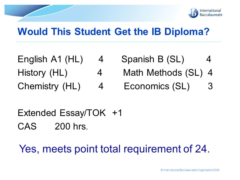 Would This Student Get the IB Diploma