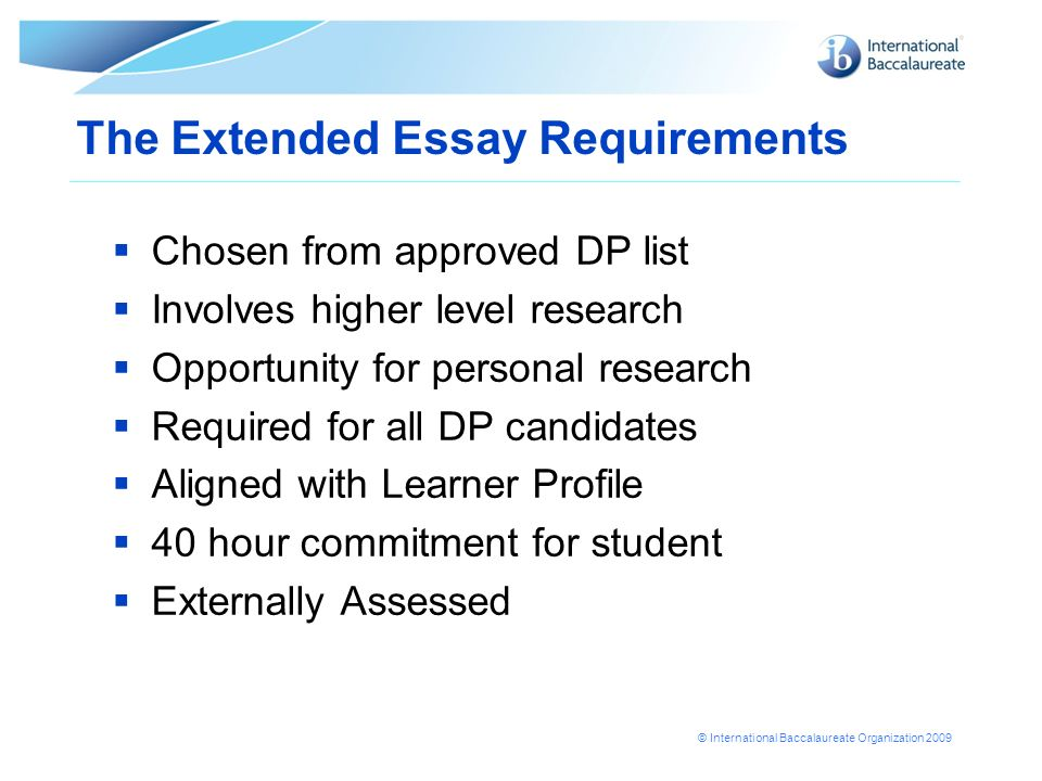 The Extended Essay Requirements
