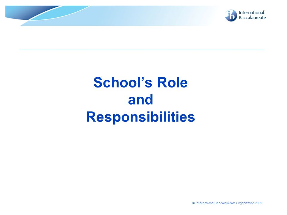 School's Role and Responsibilities