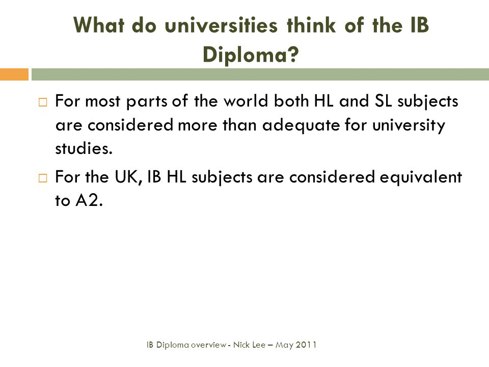 What do universities think of the IB Diploma