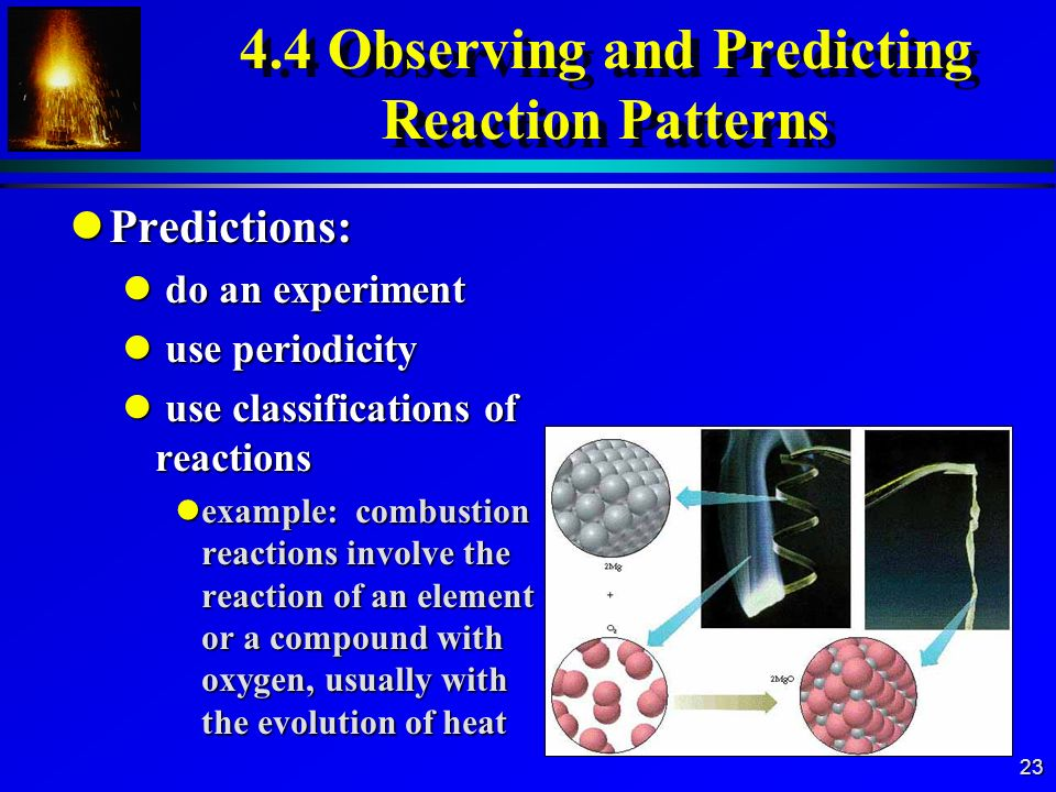 4.4 Observing and Predicting Reaction Patterns