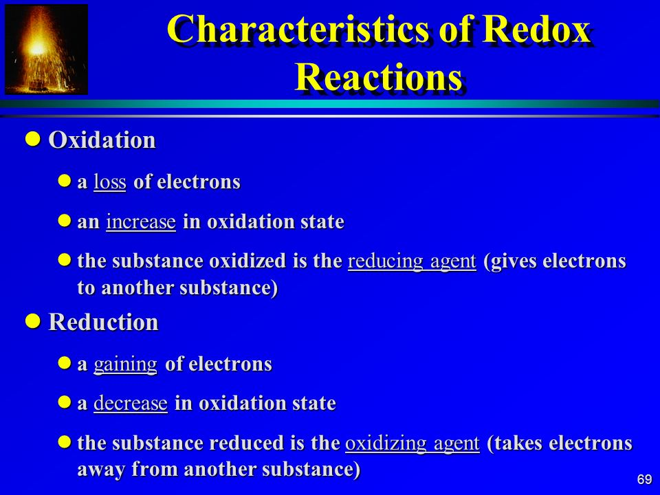 Characteristics of Redox Reactions