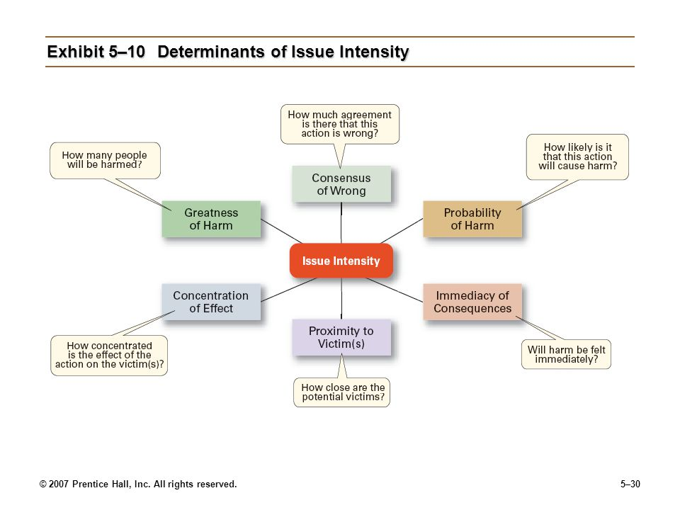 Exhibit 5–10 Determinants of Issue Intensity