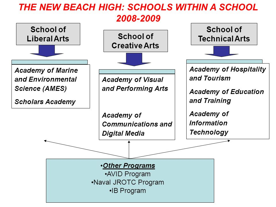THE NEW BEACH HIGH: SCHOOLS WITHIN A SCHOOL