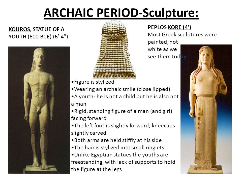 ARCHAIC PERIOD-Sculpture: