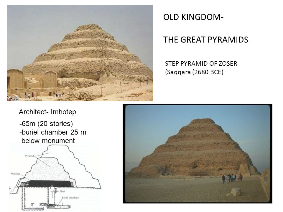 OLD KINGDOM- THE GREAT PYRAMIDS STEP PYRAMID OF ZOSER