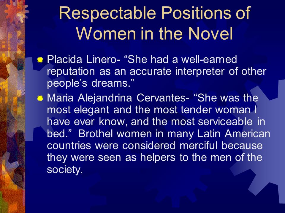 Respectable Positions of Women in the Novel