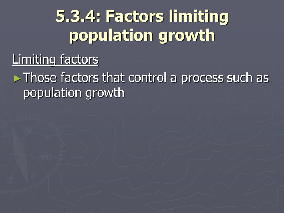 5.3.4: Factors limiting population growth