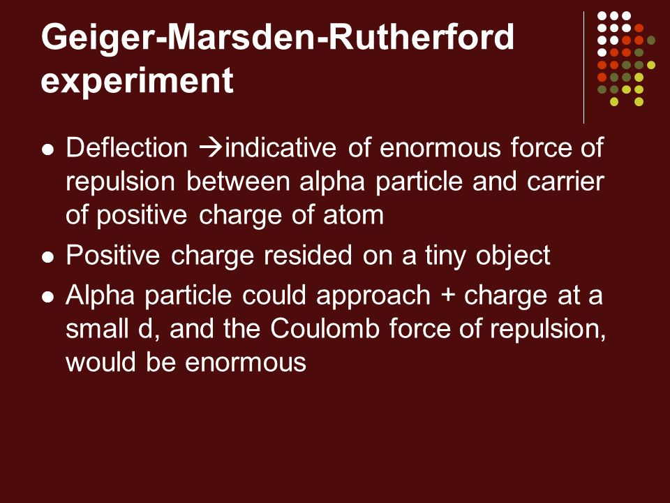 Geiger-Marsden-Rutherford experiment
