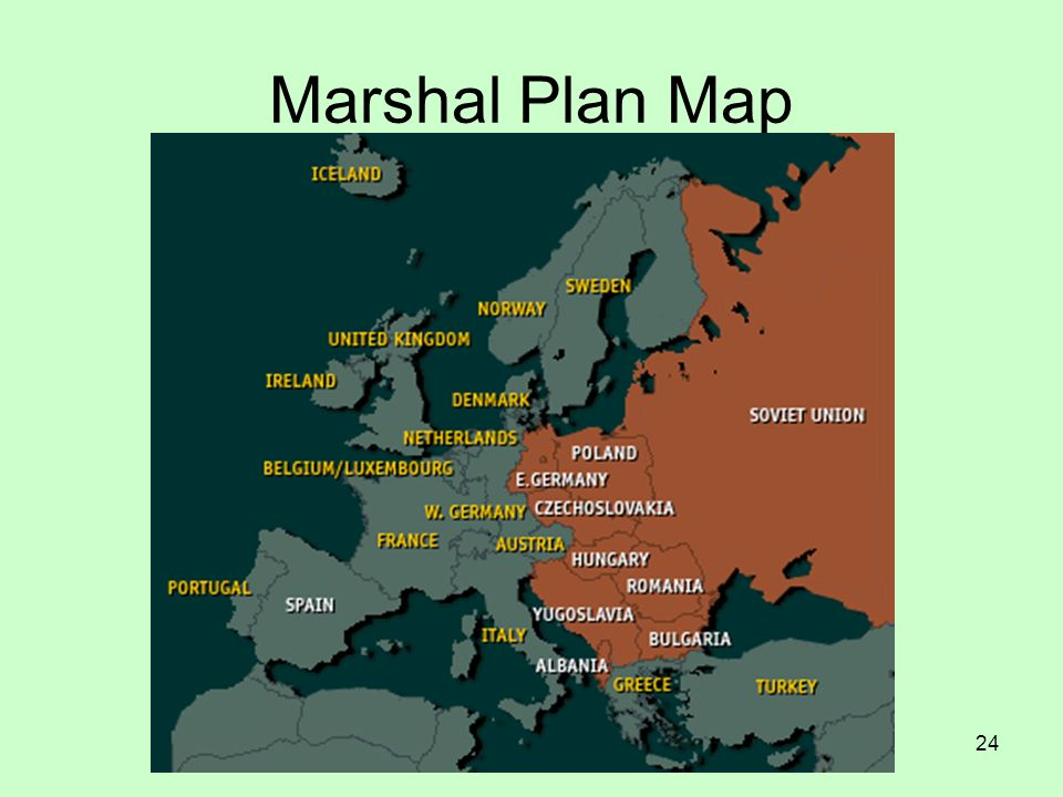 Marshal Plan Map