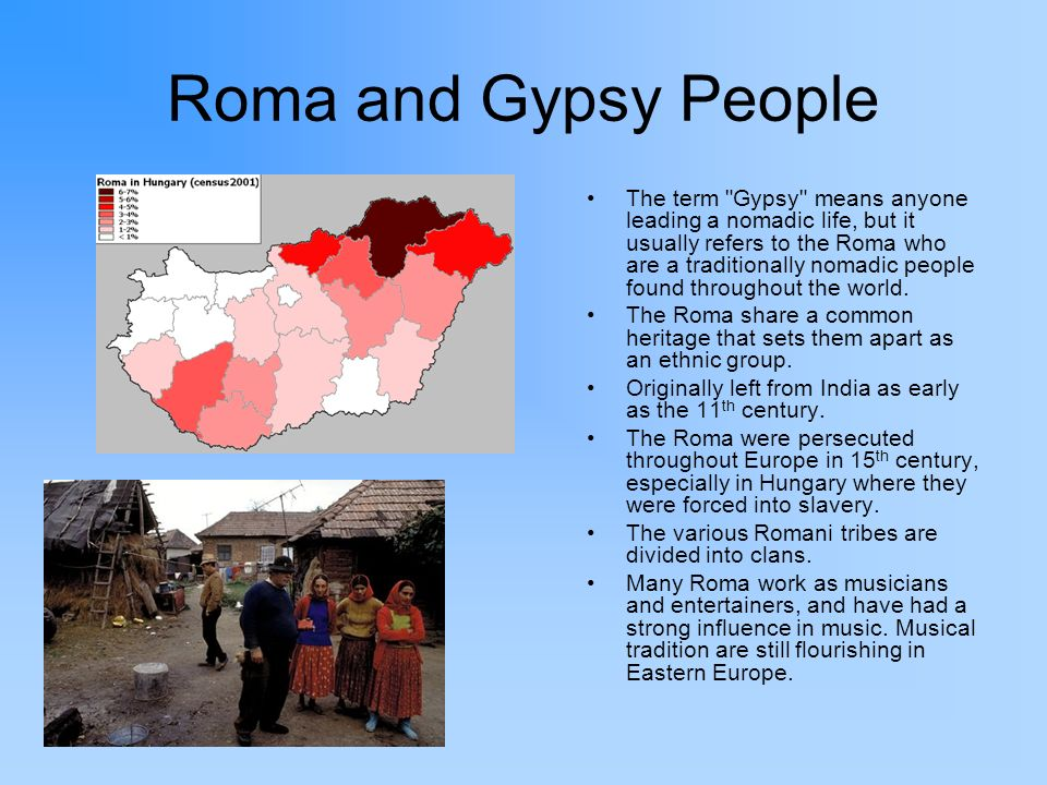 Roma and Gypsy People